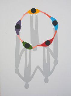 Simplificar al máximo, sus perspectivas y los colores planos, son las principales características de la preciosa obra de Geoff McFetridge.                   Geoff McFetridge    vía Booooooom