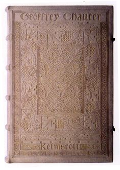 """""""The Works of Geoffrey Chaucer."""" A remarkable Arts & Crafts period printing with intricately tooled leather cover. William Morris - The Kelmscott Press"""