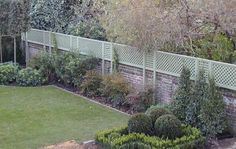 The Garden Trellis Company - Could be cool to do a small brick wall with trellis on top...