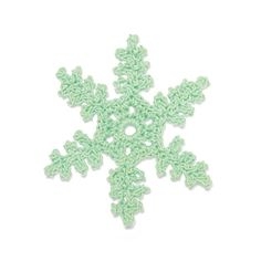 Delicate Crocheted Snowflake - Plane Dendrite from Lionbrand (pattern via the link).