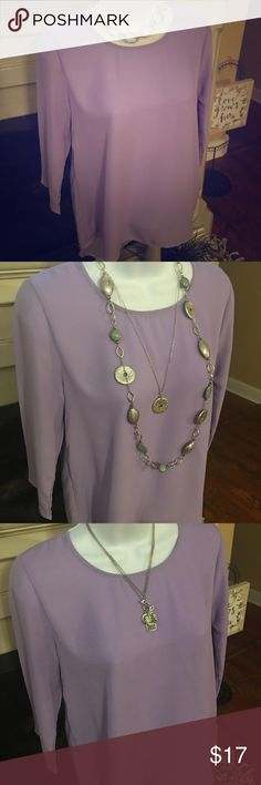 Beautiful sheer lilac tunic with split back detail Gorgeous and in excellent condition. Great with white pants, black crops, or even grey skirt. Old Navy Tops Tunics