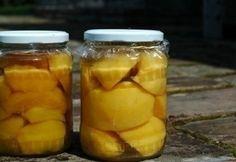 Őszibarackbefőtt Pickles, Cucumber, Cooking Recipes, Foods, Drinks, Happy, Food Food, Drinking, Food Items