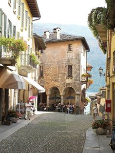 Cannobio on the shore of Lago d'Orta, Piemonte, Italy http://guide2successinlife.com @isabellamanetti