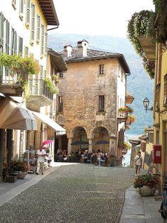Cannobio on the shore of Lago d'Orta, Piemonte Italy