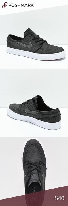 sports shoes 2a409 c8a6d Nike SB Janoski Anthracite   White Canvas Shoes New Nike SB Janoski  Anthracite   White Canvas
