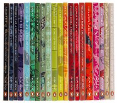 Penguin Great Food Series -- the spines of the boxed set. The covers are also utterly delectable. PenguinFood1.jpg