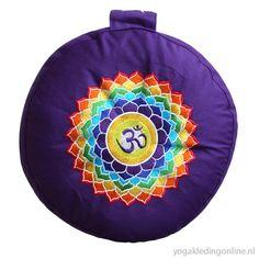 Meditatiekussen paars zesde chakra 1