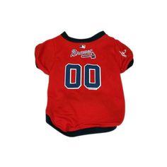 Atlanta Braves Baseball Dog Jersey - Red