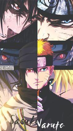 Sasuke e Naruto Fan Art Naruto, Naruto Uzumaki Shippuden, Naruto Shippuden Sasuke, Naruto Kakashi, Anime Naruto, Sakura Anime, Gaara, Anime Ninja, Wallpapers Naruto