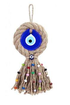 Evil Eye Store Turkish Evil-Eye Amulet Turkish Evil Eye Amulet for hanging home or office. An amulet charm or object carried for protection from evil. Crafts To Sell, Diy And Crafts, Arts And Crafts, Palette Deco, Handmade Decorations, Home Decor Wall Art, Evil Eye, Home Gifts, Handicraft