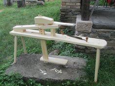 shaving horse , truhlářská stolice.......