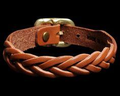 Il Bisonte Braided Leather Bracelets