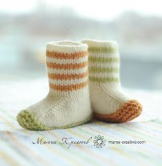 Child Knitting Patterns Lovebug Booties knitting sample by Carrie Bostick Hoge - Out there at LoveKnitting Baby Knitting Patterns Love Knitting, Knitting For Kids, Baby Knitting Patterns, Knitting Socks, Baby Patterns, Knitting Projects, Baby Booties Knitting Pattern, Summer Knitting, Knit Baby Booties