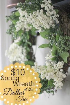 $10 at the Dollar Tree and an old Grapevine Wreath - so simple!