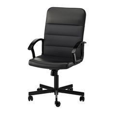 RENBERGET Swivel chair IKEA This desk chair has adjustable tilt tension that allows you to adjust the resistance to suit your movements and weight. Ikea Office Chair, Black Office Chair, Seat Foam, Soft Flooring, Mesh Chair, Home Garden Design, Ikea Home, Steel Furniture, My New Room