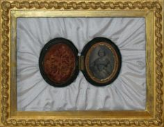 Antique tin type in original frame, now housed as a work of art and family heirloom...