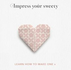 Impress your sweety with this easy DIY origami heart tutorial. Origami Star Paper, Origami Diy, Origami And Quilling, Origami Ball, How To Make Origami, Origami Design, Origami Hearts, Origami Boxes, Dollar Origami