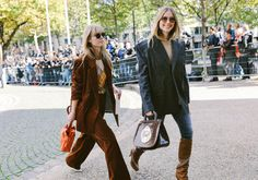 Jeanette Madsen and Pernille Teisbaek with a Mulberry purse