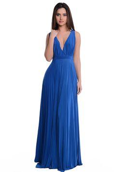 bridesmaid dresses in royal blue jumpsuits
