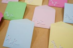 10 2x2 cards and envelopes  Free Shipping  by BurntCarmine on Etsy