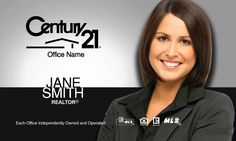 Century 21 realty business card template century 21 pinterest silver black century 21 business card wajeb