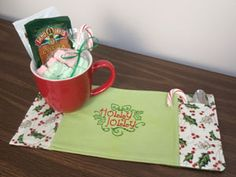 Embroidery Library - Machine Embroidery Designs Inspired Project Page - cozy mug rug