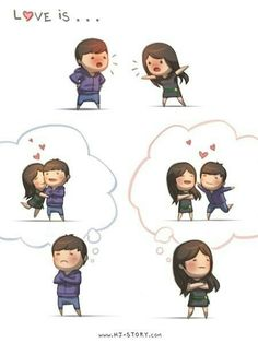 HJ Story - Love is… being stubborn We all fight sometimes. Hj Story, Cute Love Stories, Love Story, Girls In Love, What Is Love, Funny Love Pictures, Cartoons Love, Couple Cartoon, Chibi Couple