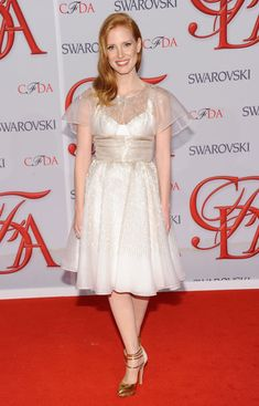 Jessica Chastain attends the 2012 CFDA Fashion Award