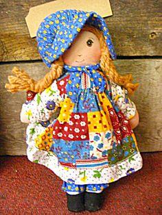 Vintage Holly Hobbie Minature Rag Doll 3420 New Old Stock Knickerbocker