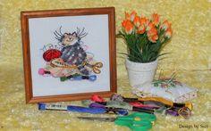 Margaret Sherry - Crafty Cat  #margaretsherry #crossstitching