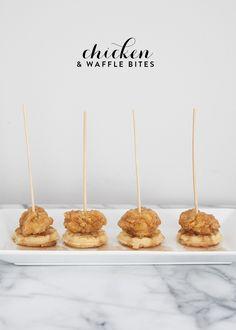 Chicken & Waffle Appetizer Bites | House of Earnest