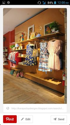 Mix Up A Wall With Face Outs Straight Rods And Shelving At Various Heights So Many Merchandising Possibilities For Consignment Resale Shops