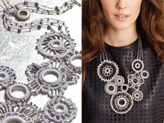 Crochet and beads from Vogue