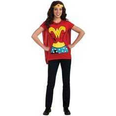 86cd31e0e9d Amazon.com  DC Comics Wonder Woman T-Shirt With Cape And Headband ...