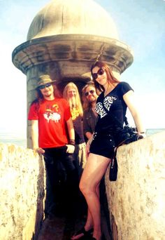 Floor, Troy, Marco and Tuomas. It must be really cool to travel all the way around the world and still have time to sightsee. Metal News, Symphonic Metal, Gothic Metal, Female Singers, Celebrity Feet, Metal Bands, Troy, My Music, New Orleans