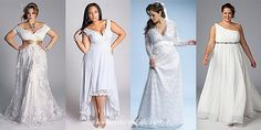The main trends in wedding plus size fashion for plump women 2013 are – classic silhouettes and lace. A deep V-neckline with cap-sleeves, asymmetry, emphasis on the neckline and waistline are in fashion.