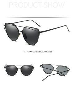 bff91c028245 Fashion Brand Sunglasses For Men Women Glasses Cat Eye Sun Glasses Male  Mirror Sunglasses Men Glasses Female Vintage Gold Glasses