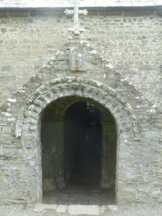 Entrance of the church of St Morwenna and St John the Baptist, Morwenstow, England, uk