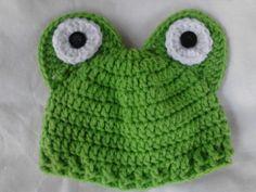 Green Crochet Frog etsy