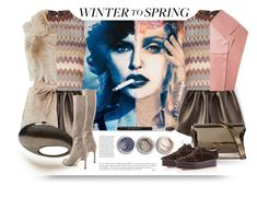 """Winter to Spring"" by alevalepra ❤ liked on Polyvore featuring moda, Marni, Glamorous, Anja, Delpozo, Bare Escentuals, Chanel, Stuart Weitzman e Wintertospring"