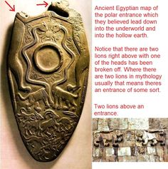ancient egyptian hollow earth map