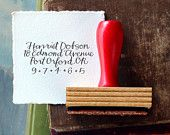 calligraphy return address stamps stationery by Primele on Etsy