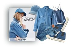 """denim"" by caroline-buster-brown on Polyvore featuring Reclaimed Vintage, Mudd, Golden Goose, AG Adriano Goldschmied and alldenim"