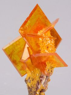 Wulfenite crystal. Wonderful color and shape