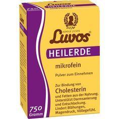 LUVOS Heilerde mikrofein Pulver zum Einnehmen:   Packungsinhalt: 750 g Pulver PZN: 01649174 Hersteller: Heilerde-Gesellschaft LUVOS JUST…