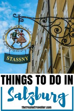 Austria Travel Inspiration - One of the most popular store signs on Salzburg's Getreidegasse - Things to Do in Salzburg - The Trusted Traveller Road Trip Europe, Europe Travel Tips, Travel Destinations, Travel Guides, European Destination, European Travel, Stuff To Do, Things To Do, Austria Travel