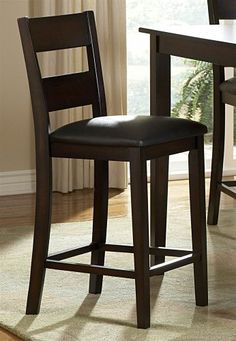 Home Elegance 2425-36 Griffin 5Pc Dining Set – Table-4 Counter Height Chairs