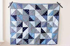 scrappy baby quilt