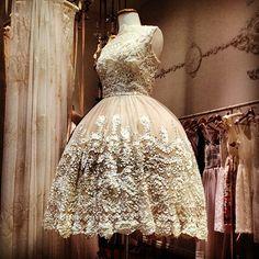 ANAESSIA Designer / Artist — Ribbon Lace Champagne Ballerina