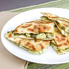Chicken and Artichoke Pesto Quesadilla
